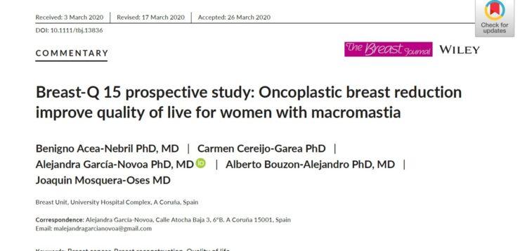 BreastQ 15 Prospective Study