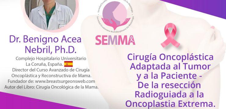 Webinar: Cirugía Oncoplástica adaptada a la mama y a la paciente. De la cirugía radioguiada a la oncoplastia extrema